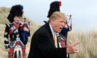 Donald Trump visits the Menie estate.