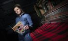 Clare Campbell with her new Dennis the Menace tartan.