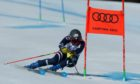 Alex Tilley in giant slalom action at Cortina 2021.