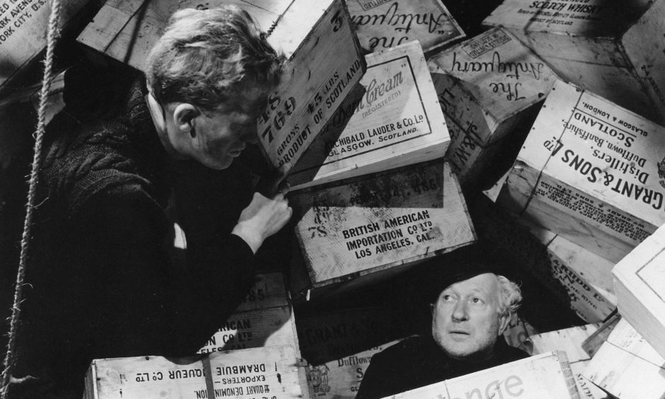 A scene from Whisky Galore which was inspired by the sinking of the SS Politician.