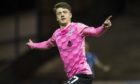 Daniel MacKay celebrates scoring against Raith Rovers.