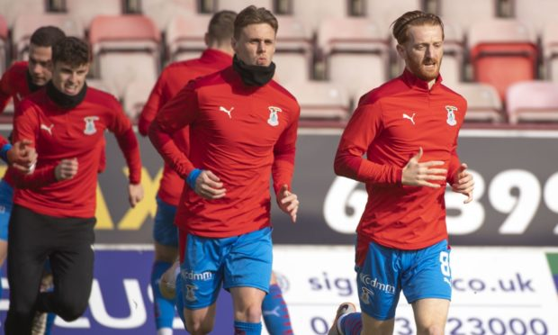 Kevin McHattie, centre, is fit again after a hip injury.
