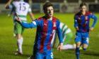Inverness' Daniel Mackay celebrates his winning goal.