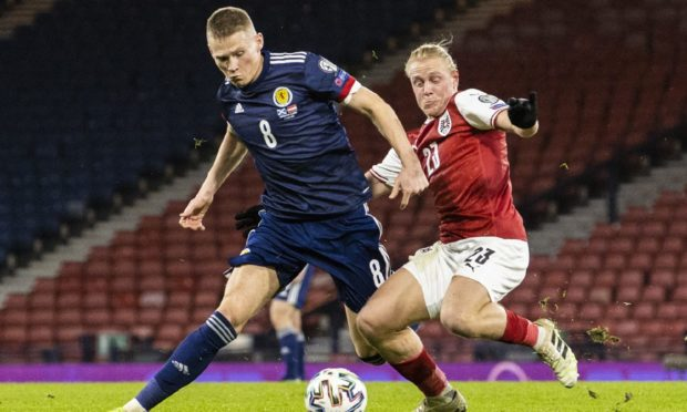 Scott McTominay in action.