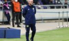 Steve Clarke during Scotland's 1-1 draw with Israel.