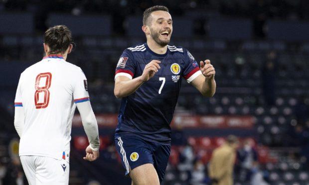 John McGinn netted twice against Faroe Islands.