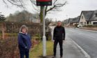 Gillian Owen and Gary Thomson in Ellon's Hospital Road.
