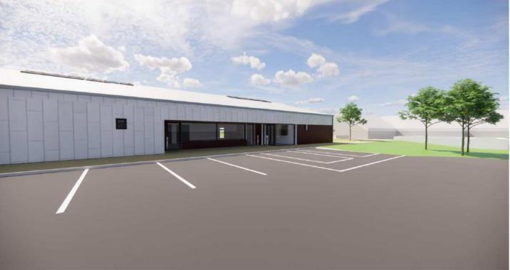 The nursery building will be situated to the east of the existing school.