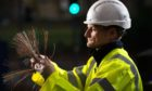An Openreach fibre engineer connects a home to the fibre broadband network.