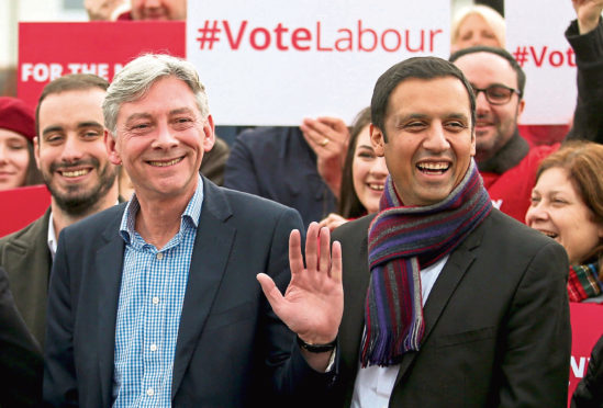 SUCCESSION: Richard Leonard on taking over the Scottish leadership in 2017, with Anas Sarwar who has now taken over from him.