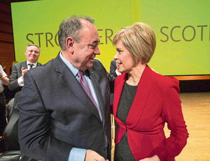 BREAKDOWN: Former first minister Alex Salmond and current incumbent Nicola Sturgeon were close friends as well as colleagues.