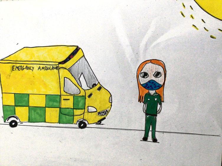 070 Ella Sutherland Age: 10, Newtonhill Paramedics are my lockdown heroes