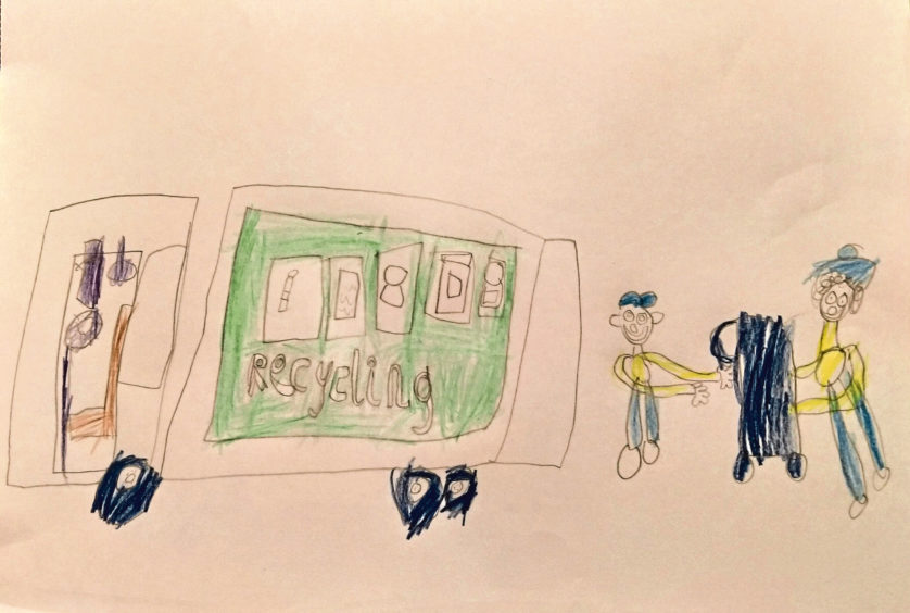 071 Anna Smart Age: 5, Turriff Thanks for taking our recycling and rubbish away!