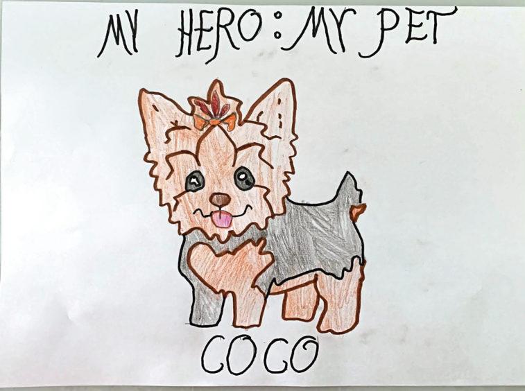 074 Kimberly Oprzedek-Jonik Age: 9, Aberdeen My hero is my pet