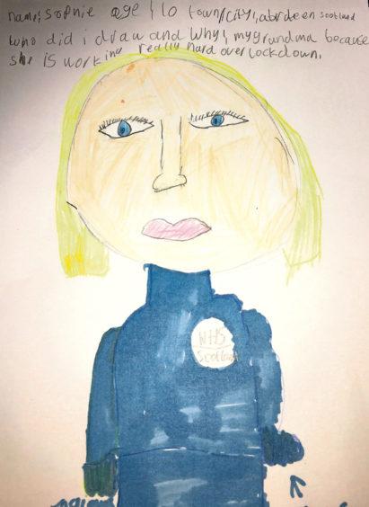 077 Sophie B Age: 10, Aberdeen Grandma who is working really hard over lockdown