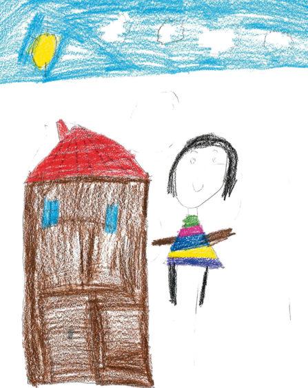 076 Sakana Kagendran Age: 5, Aberdeen Because my mummy helps me with my school work