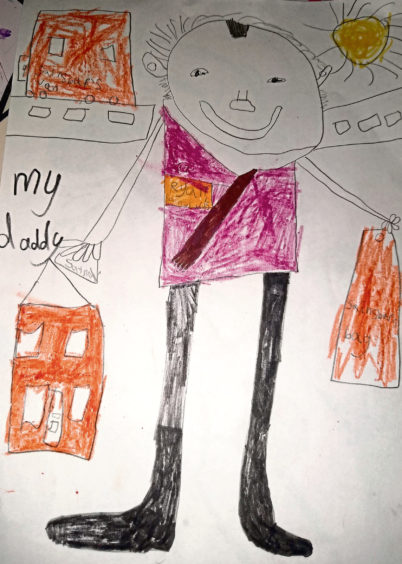 069 Chloe Coutts Age: 6, Aberdeen My daddy is my lockdown hero