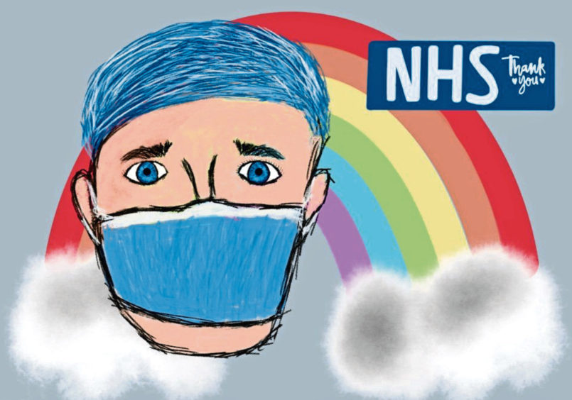 090 Aimee Woollett Age: 14, Elgin The NHS have helped a lot of people – thank you