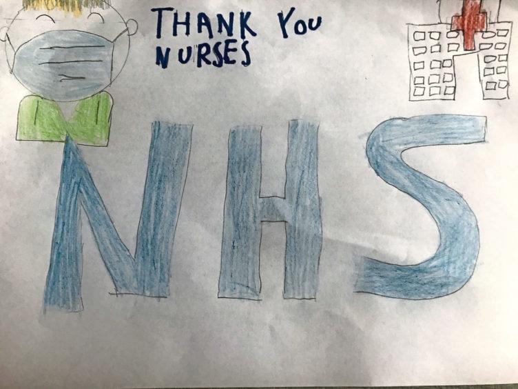 088 Emily Fraser Age: 9, Banchory Thank you, nurses