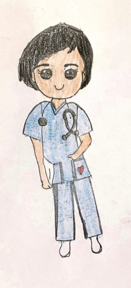 084 Aaron Mridha Age: 9, Aberdeen My heroes are the frontline nurses and doctors