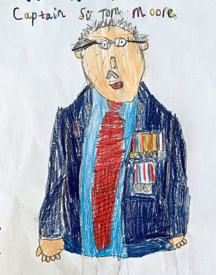 116 Max Reilly Age: 7, Ballater Captain Sir Tom Moore did a lot for the NHS
