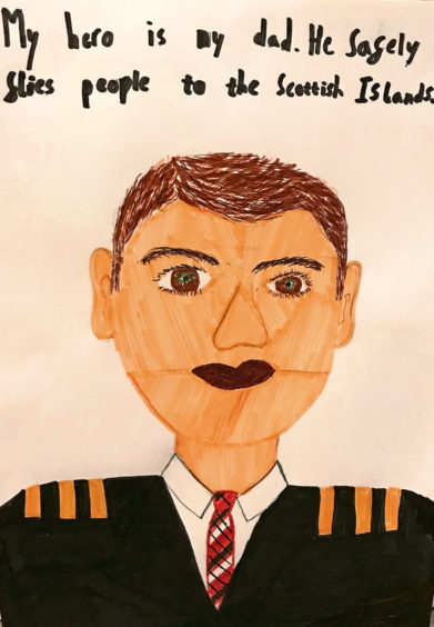 144 Lewis Peach Age: 12, Aberdeen My hero dad safely flies people to the Scottish Islands