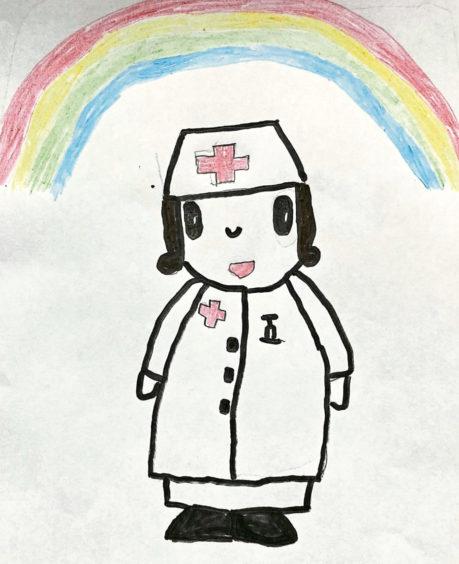 167 Carley Shearer Age: 7, Stuartfield Nurses work extra hard at the moment