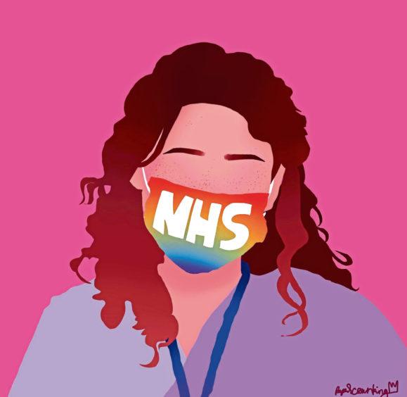 196 Taylor Cameron Age: 13, Elgin We have pride in the NHS
