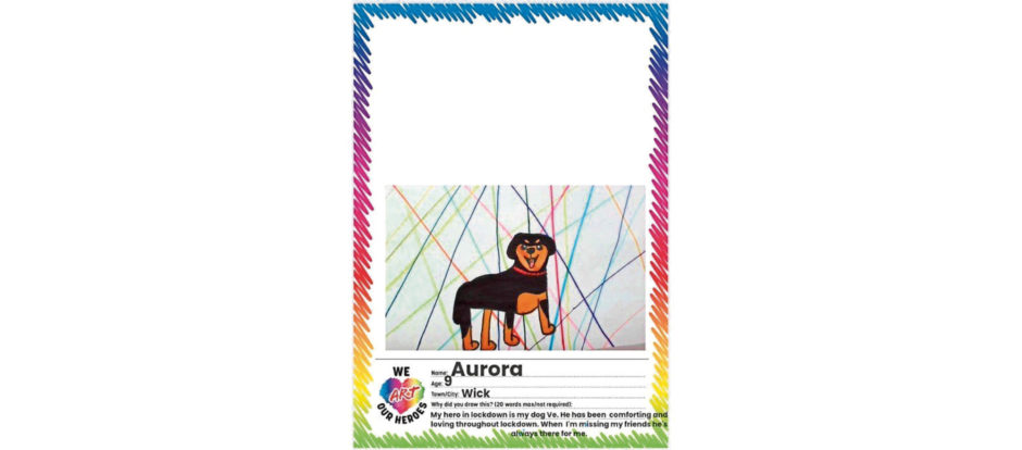 199 Aurora Age: 9, Wick My hero in lockdown is my dog