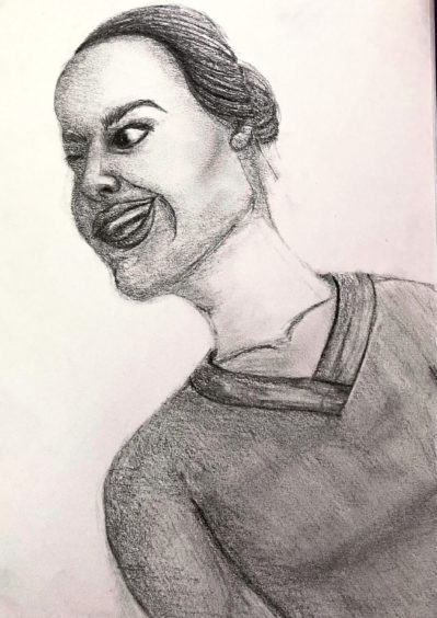243 Emily Anderson Age: 14, Elgin This is a drawing of a hospital worker