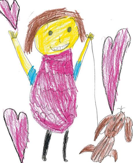 240 Gabriella Gac Age: 5, Aberdeen Because I really love my sister