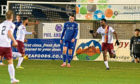 One goal was enough for Stenhousemuir against Peterhead. Picture by Paul Glendell