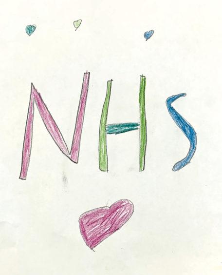 279 Grace Age: 7 Hopeman. NHS are my heroes