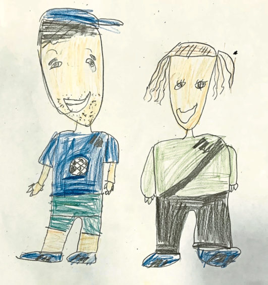 322 Archie Rad Age: 7, Hopeman My Mum and Dad are my heroes as they helped me at home