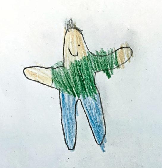 357 Jack Age: 7, Hopeman My Dad is my hero because he helped me when I broke my leg