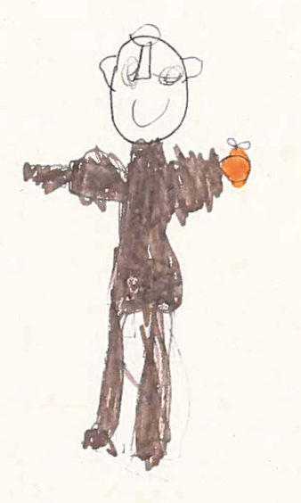 387 Lennon Millward Age: 6, Mintlaw I drew a policeman as they keep me safe