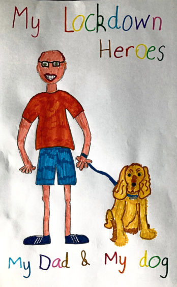 389 Evie Souter Age: 7, Lossiemouth My dad and my dog are my heroes