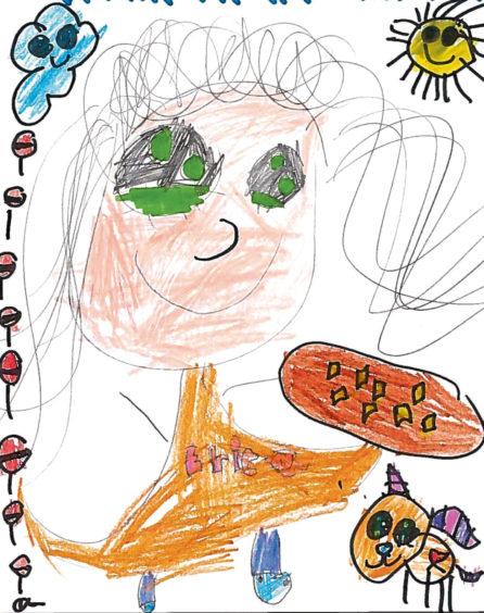 371 Erkia Age: 6, Aberdeen I love my mum