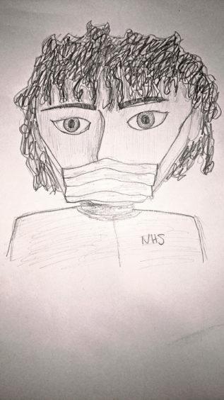 408 Abigail Groves Age: 13, Elgin NHS workers are my lockdown heroes