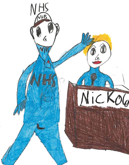 479 Pablo Blanco Roma Age: 7, Aberdeen My heroes are the NHS and Nicola Sturgeon