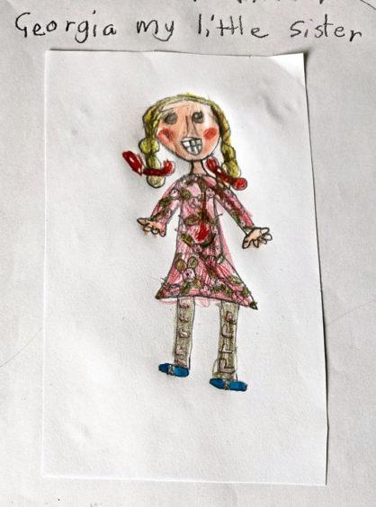 403 Freya Maldonado Age: 8, Dingwall My little sister Georgia always makes me smile
