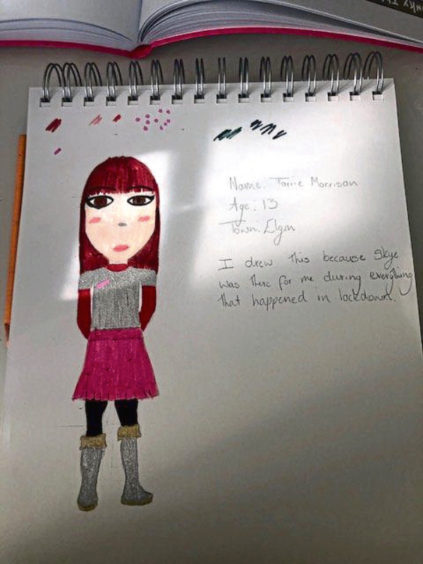 483 Torrie Morrison Age: 13, Elgin Skye helped me in lockdown