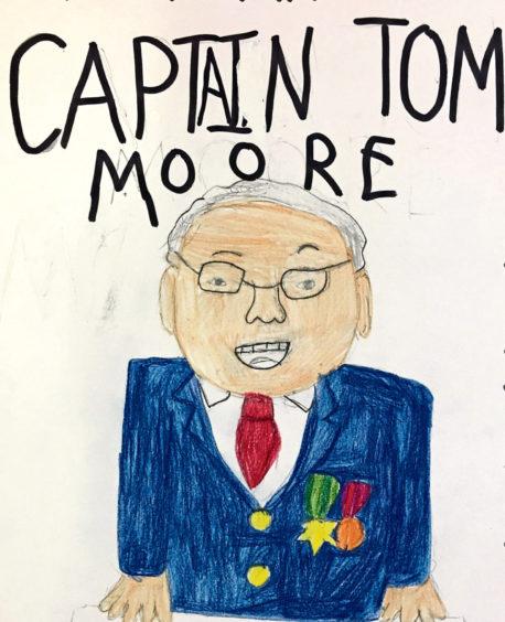 433 Hannah Pollock Age: 10, Dingwall Captain Sir Tom Moore is my hero