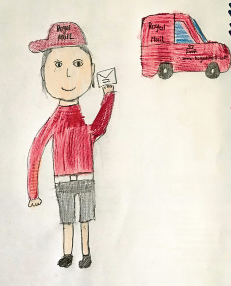 490 Ethan Milne Age: 10, Old Rayne Our postman Brian is the best