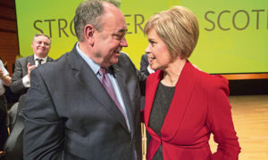 OLD TIMES: SNP titans Alex Salmond and Nicola Sturgeon in November 2014 before their friendship descended into recriminations.