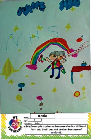513 Katie Age: 9, Keiss My granny is my hero and an NHS worker