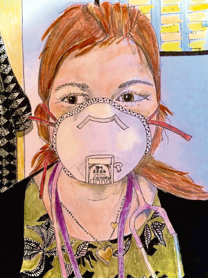 586 Kate Lumsden Age: 63, Aberdeen Dr Lumsden on the first day she tried on her mask