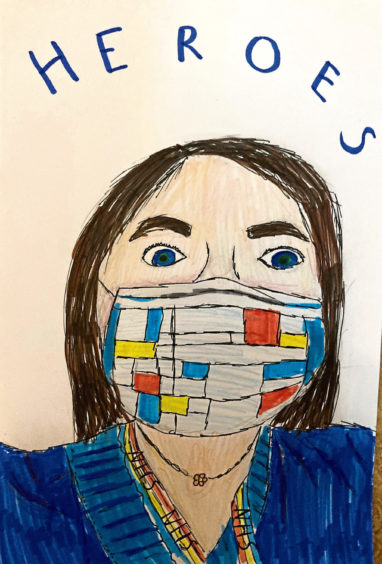 602 Eva Brown Age: 11, Ellon This is my drawing of an NHS worker