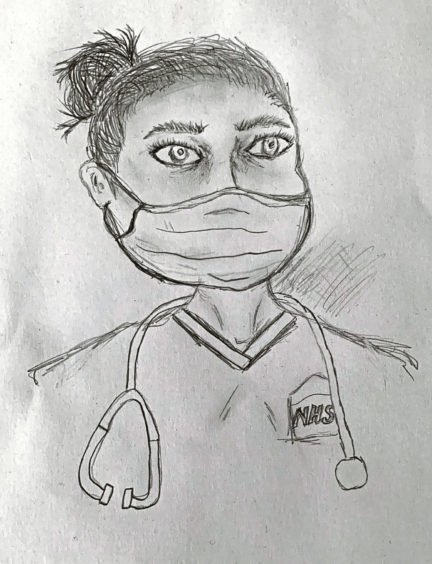 588 Mia Taulier Age: 13, Elgin I think all NHS workers are lockdown heroes