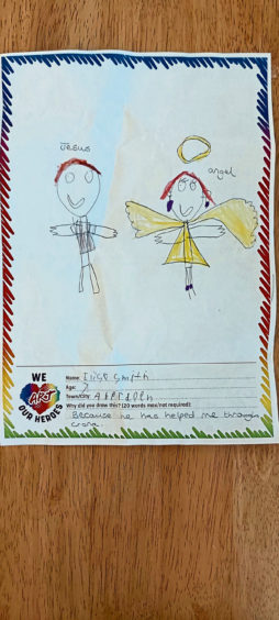 637 Elise Smith Age: 7, Aberdeen Jesus and the angels
